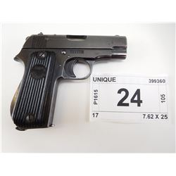 UNIQUE , MODEL: 17 KREIGS MODELL , CALIBER: 32 AUTO