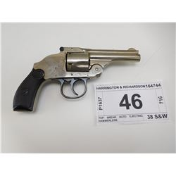 HARRINGTON & RICHARDSON , MODEL: TOP BREAK AUTO EJECTING HAMMERLESS , CALIBER: 38 S&W