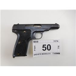 MAB , MODEL: BREVETE MODELE D , CALIBER: 7.65MM