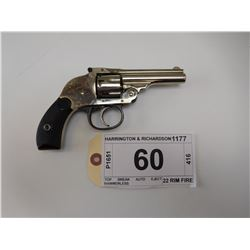HARRINGTON & RICHARDSON , MODEL: TOP BREAK AUTO EJECT HAMMERLESS , CALIBER: 22 RIM FIRE