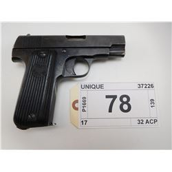 UNIQUE , MODEL: 17 , CALIBER: 32 ACP
