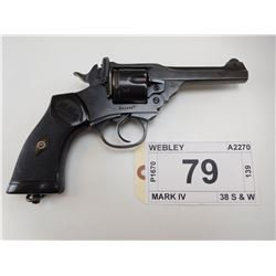 WEBLEY & SCOTT , MODEL: MARK IV 38 SERVICE , CALIBER: 38 S & W