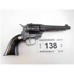 HIGH STANDARD , MODEL: W100 DOUBLE 9 , CALIBER: 22 LR