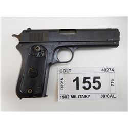 COLT, *CORRECTION*  MODEL: 1903 POCKET, CALIBER: 38 AUTO