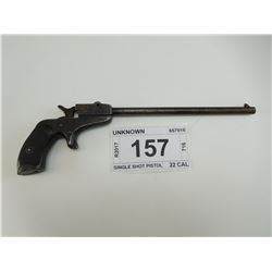 UNKNOWN , MODEL: SINGLE SHOT PISTOL , CALIBER: 22 CAL