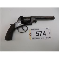 UNKNOWN , MODEL: PERCUSSION PISTOL , CALIBER: 38 CAL