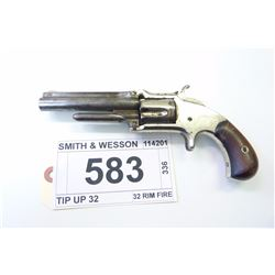 SMITH & WESSON , MODEL: TIP UP 32 , CALIBER: 32 RIM FIRE