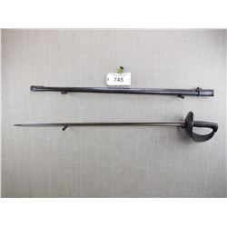 SPANISH ARTILLERY SWORD WITH SCABBARD