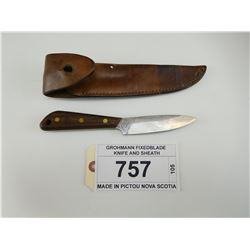GROHMANN FIXEDBLADE KNIFE AND SHEATH