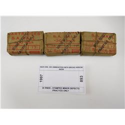 WAR ERA .303 AMMUNITION WITH BROAD ARROW MARK