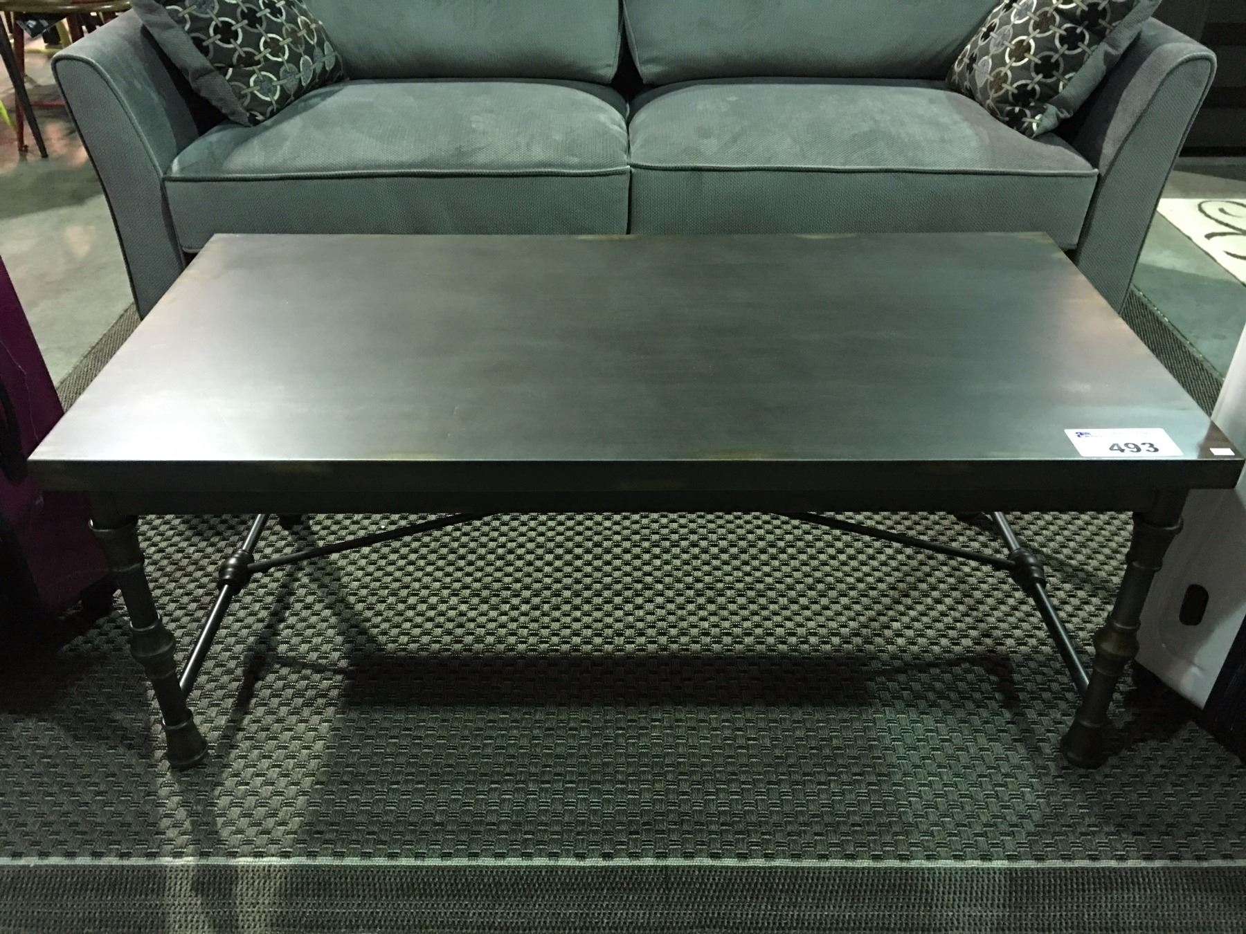 All Metal Industrial Style Coffee Table Able Auctions