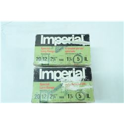 """2 BOXES 20 ROUNDS IMPERIAL 12GA 2 3/4"""" 5 SHOT"""