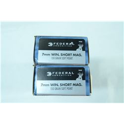 2 BOXES 20 ROUNDS FEDERAL 7MM WIN SHORT MAG 150GR SP