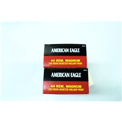 2 BOXES 50 ROUNDS AMERICAN EAGLE .44REM MAG 240GR JHP