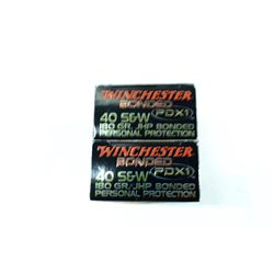 2 BOXES 20 ROUNDS WINCHESTER PERSONAL DEFENSE .40 S&W 180GR JHP