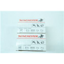"2 BOXES 25 ROUNDS WINCHESTER 12GA 2 3/4"" 7.5 SHOT"
