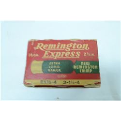 "F6- ONE BOX 25 ROUNDS VINTAGE REMINGTION EXPRESS 16GA 2 3/4"" 4 SHOT"