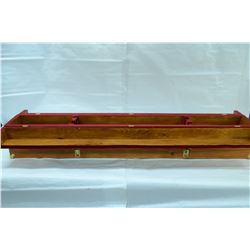 HAND CRAFTED DOUBLE RIFLE BOX *NO SHIPPING*