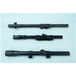 LOT OF 3 VINTAGE SMALL BORE SCOPES