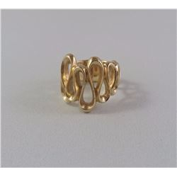 14KT YELLOW GOLD LADIES RING (UNDULATING DESIGN) REPLACEMENT VALUE $1250