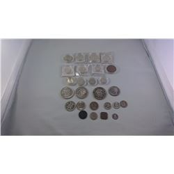 WORLD MAINLY 20TH CENTURY AND LARGELY SILVER COINS INCLUDING CHINA AND RUSSIA ASW 3.9932OZ