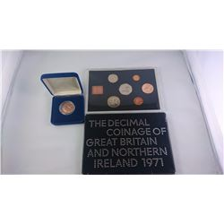 GREAT BRITAIN 1971 6 COIN SET