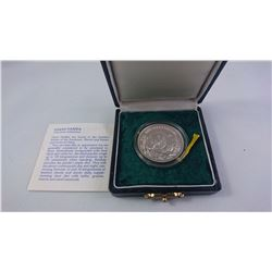 P.R. CUINA 1986 CASED 5 YUAN SILVER COIN WITH COA
