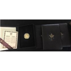 CANADA PROOF CASED 1981-84 1/2 OZ $100 GOLD COINS AGW 2 OZ ( 4 PIECES)