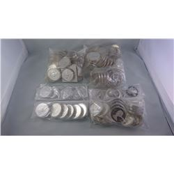 CANADA ENCAPSULATED 1971/2001 PROOF AND BU SILVER DOLLARS