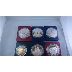 1986/1992 PROOF CASED SILVER COINS & MEDALLION 29.2238OZ ASW
