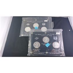 2-1993 3 COIN SETS OF BLUE JAYS WORLDS SERIES COLLECTOR SETS