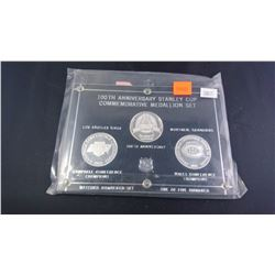 1-3 COIN SET COMMEMORATING 100TH STANLEY CUP MEDALLION