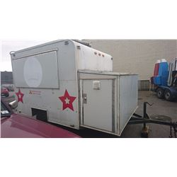 1998 UBILT BOX WHITE MOBILE CATERING/CONCESSION TRAILER