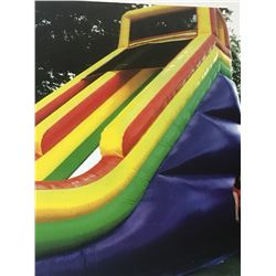 27 FOOT INFLATABLE SLIDE CARNIVAL RIDE WITH BLOWER, LANDING MAT & EXTENSION CORD