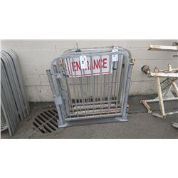 "2 - 42"" ALUMINUM GATE SECTIONS & 42 X 42"" ALUMINUM EVENT FENCING SECTION"