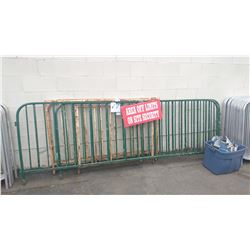 5 ASSORTED METAL EVENT FENCING SECTIONS