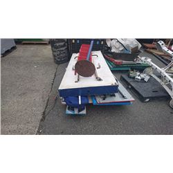 2 PALLETS WITH CHICKEN EGG GAME, SPINNING WHEEL GAME & BEAN BAG TOSS CARNIVAL GAMES