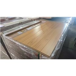 PALLET OF MILA ANCIENT MAPLE 12MM GLUELESS LAMINATE FLOORING