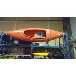 "9"" ORANGE STREAK PERCEPTION SPORT KAYAK"