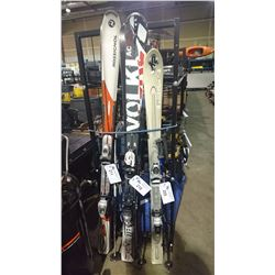 PAIR OF VOLKL SKIS WITH POLES