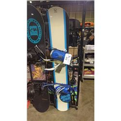 SANTA CRUZ SNOWBOARD WITH BINDINGS