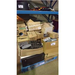 PALLET OF ASSORTED ELECTRICAL, NAILS, HARDWARE