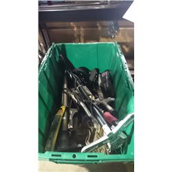2 BINS OF ASSORTED HAND TOOLS