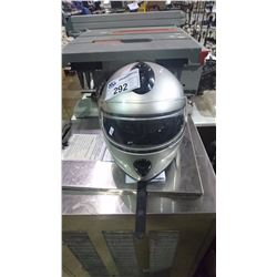 MAX FULL FACE SILVER MOTORCYCLE HELMET