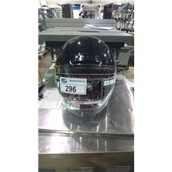 HCI HALF FACE BLACK MOTORCYCLE HELMET
