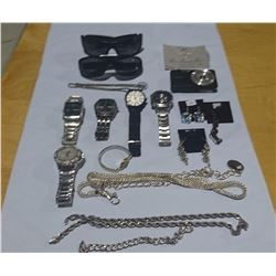 LOT OF WATCHES AND JEWELLERY