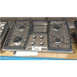 KITCHEN AID STAINLESS STEEL 4 BURNER GAS COOK TOP