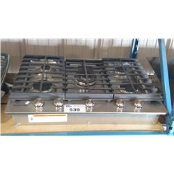 KITCHEN AID STAINLESS STEEL 5 BURNER GAS COOK TOP