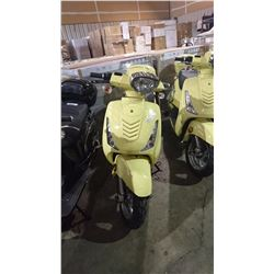 NEW YELLOW MOTORINO GTX ELECTRIC SCOOTER WITH KEYS