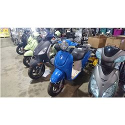 BLUE MOTORINO ELECTRIC SCOOTER NO KEY AND NO REGISTRATION NO CHARGER